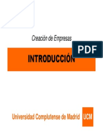 Creación de Empresas - Tema 1