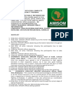 AMISOM Officers Complete Counter-Insurgency Course