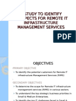 A Study to Identify Prospects for Remote It