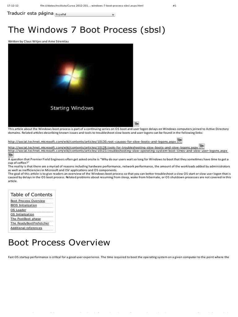Windows Booting Process Pdf