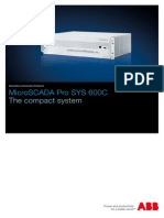 Brochure of MicroSCADA Pro SYS 600C - The Compact System