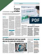 08-05-2015 - El Comercio - Portafolio - El Calentamiento Del Mar Puede Afectar La Cuota de Anchoveta