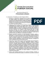 Programa Mínimo - Fuerza Social