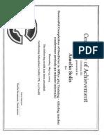 amelia certificate of achievement