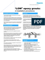 TDS - Masterflow Epoxy Grouts