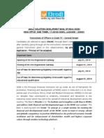 SIDBI exam syllabus and important dates