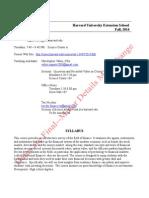 Mgmt E-2000 Fall 2014 Syllabus