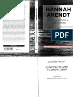 Nota Editorial a Existencialismo y compromiso, Hannah Arendt. Tomás Caballero