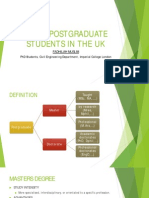 Being Postgraduate Students in the Uk