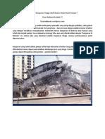 Benarkah Bangunan Tinggi Lebih Rawan Rubuh Saat Gempa