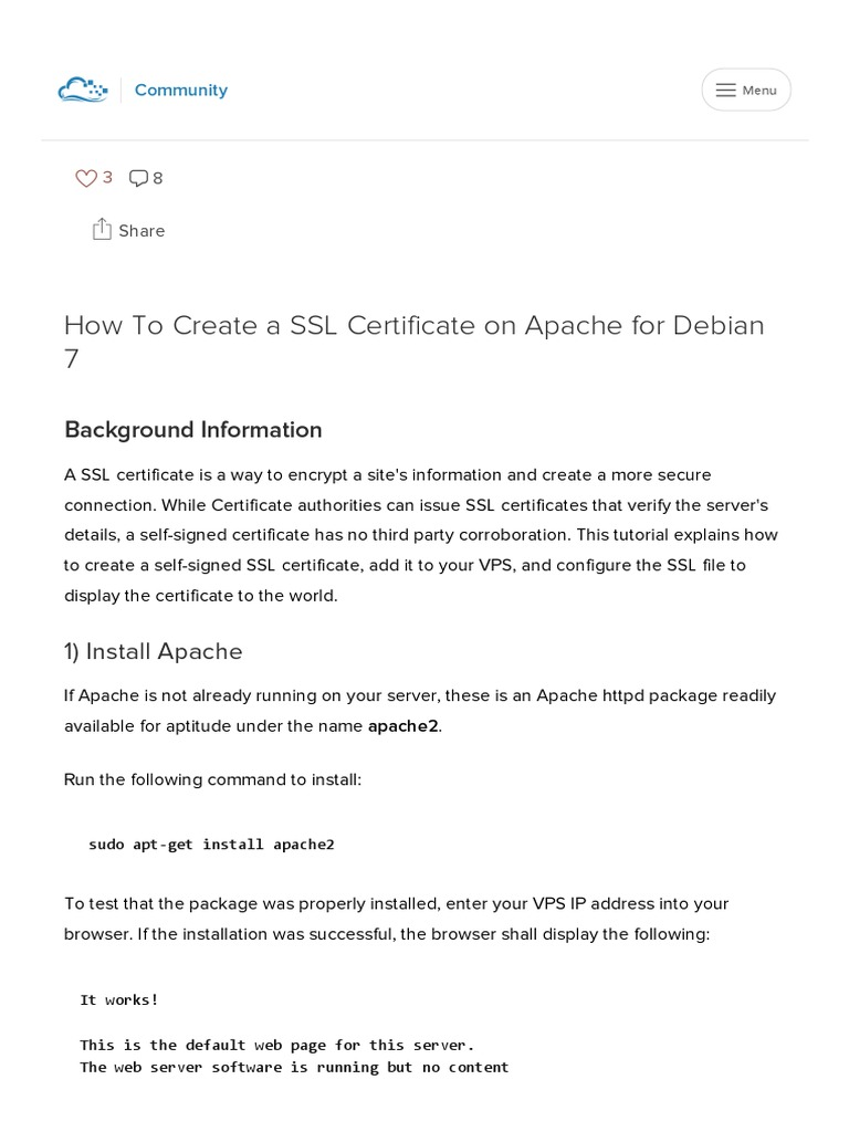 How To Create A Ssl Certificate On Apache For Debian 7pdf Public