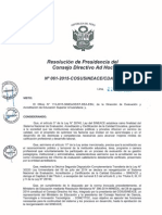 Resolución N°061-2015-COSUSINEACE-CDAH-P