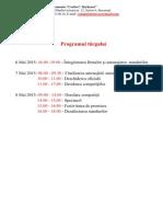Programul targului 2015
