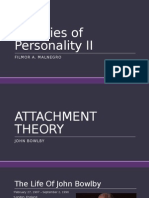 Attachment Theory + Five-Factor Theory