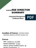 Course Director Summary