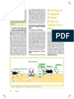 Broad Steps in Earthquake Resistant Design of a Nuclear Power Plant