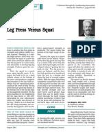 010 Leg Press vs Agachamento Nsca 2001