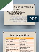 Criterios de Aceptación de Muestras Microbiológicas en Humanos