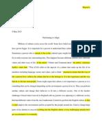 first essay final draft portfolio