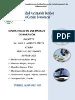 Operatividad de Los Bancos de Inversión