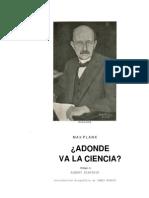 Max Plank - A Dónde Va La Ciencia.pdf