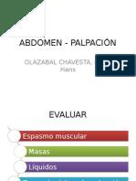 Abdomen - Palpación