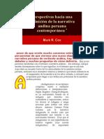 Perspectivas Hacia Una Definición de La Narrativa Andina Peruana Contemporánea