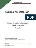 NORMA OHSAS 18001 07 Interpretacion