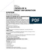 How to Develop a Management Information System
