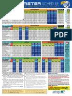 Coaster-Schedule 2015 PADRES Schedule
