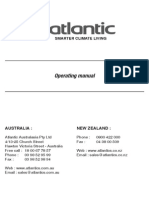 Atlantic - Artisan - Odyssee - Rio - Operating Manual