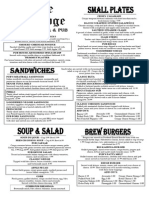 The Ridge Menu Mar 3 2015
