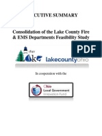 EXECUTIVE SUMMARY Fire Consolidation Study