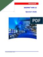 MAXPRO NVR 2.5 Operators Guide