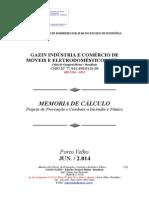 CBMRO - Memorial Descritivo - Lojas GAZIN (15.06.14)