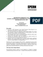 Europe and Romania's Presidential Impeachemnt Referndum, May 2007