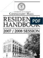 Connaught Hall Residents' Handbook 2007-8