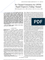 Iterative Turbo Channel Estimation for OFDM Over System Over Rapid Dispersive Fading Channels