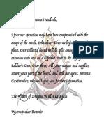 Hodq Rezmir Letter