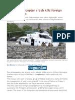 Pakistan Helicopter Crash Kills Foreign Ambassadors