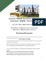 """COLÓQUIO """"DIAITA- PATRIMÓNIO ALIMENTAR"""" (14 E 15 DE MAIO, 2015)"""