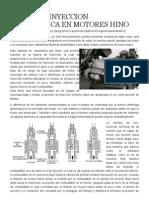 Rango de Inyeccion Electronica en Motores Hino