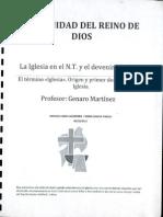 La Iglesia en El NT y El Devenir Historico - CRD