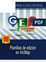 Plantillas de Edicion en Arc Map