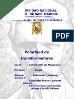 Polaridad de Transformadores Monofasicos