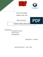 Exposé Statut Des Avocats 2-1