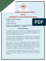 ANÁLISIS  DE IMPACTO AMBIENTAL  EN AMÉRICA LATINA