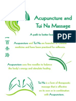 Tuina - With Acupuncture - OHP Leaflet Apr 09