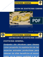 1. Definición de Zootecnia Canina