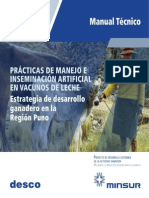 PRÁCTICAS DE MANEJO E INSEMINACIÓN ARTIFICIAL EN VACUNOS DE LECHE